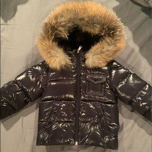 Moncler Toddler Coat with fur hood
